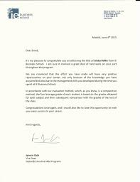 graduation letter from vice dean