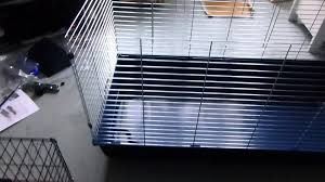 Metal Rabbit Hutch Essegi Baffy 120 2 Level Guinea Pig Rabbit Cage Unboxing Youtube