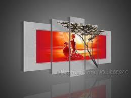 african art and wall decor african art modern wall decor landscape oil painting on canvas framed
