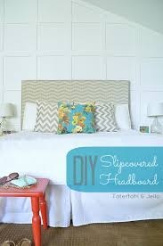 make a slipcovered headboard an easy way to change up your
