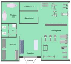 Free Floor Plan Template Gym And Spa Area Plans Solution Conceptdraw Com