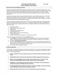 Portfolio Resume Sample by High Resume Examples Resume For A Highschool Student
