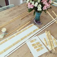 faux bamboo table legs gorgeous shiny things diy faux bamboo moulding ditrydiy
