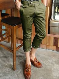 what color matches green all match army green pure color cropped pants