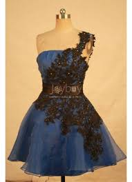 shoulder black lace organza royal blue short quinceanera dresses
