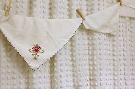 Vintage Style Shower Curtain Shower Curtain Made From A Bedspread Daisymaebelle Daisymaebelle