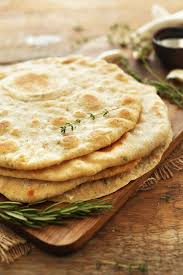 Rosemary Garlic Bread Machine Recipe Garlic Herb Flatbread Minimalist Baker Recipes