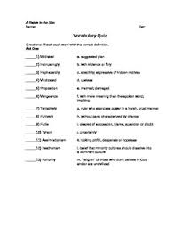 a raisin in the sun worksheets calleveryonedaveday