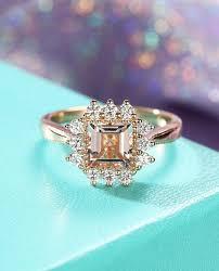 gold vintage engagement rings vintage morganite engagement ring set deco antique engagement