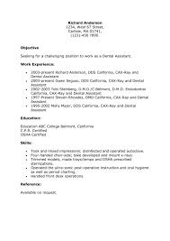 Examples Of Medical Assistant Resumes Cover Letter Dental Assistant Resumes Samples Pediatric Dental