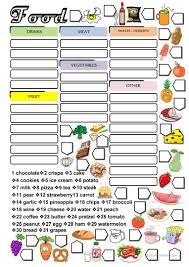 2019 free esl food worksheets