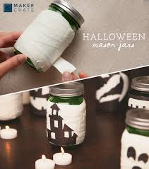 glow in the dark halloween mason jars maker crate
