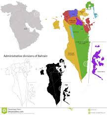 Map Of Bahrain Bahrain Map Stock Images Image 31437014