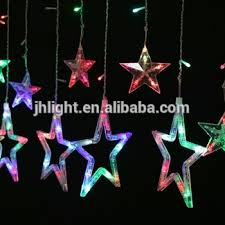 juhui cheap wholesale led hanging star curtain string light