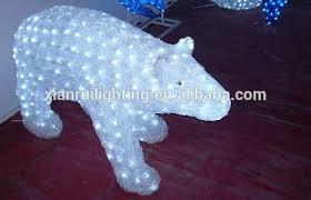 led polar bear christmas outdoor lighted decorations buy polar