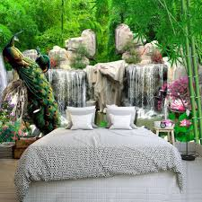 diy 3d wall murals peacock in bamboo forest home decor craft diy 3d wall murals peacock in bamboo forest