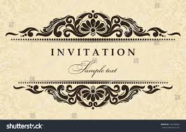 Wedding Invitation Cards With Photos Wedding Invitation Cards Baroque Style Brown Stock Vector
