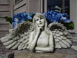 Face Planter Unique Original And Functional Angel Cherub Statues Planters