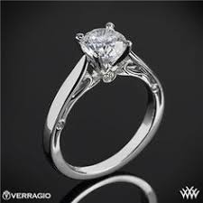 gold engagement ring setting only tacori engagement rings crescent setting 0 23ctw