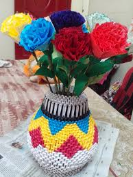 Origami 3d Flower Vase Harpreet Kaur Google