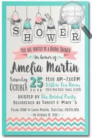 Mason Jar Bridal Shower Invitations Botanical Rustic Mason Jar Bridal Shower Invitations Di 1514