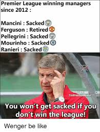premier league winning managers since 2012 mancini sacked ferguson