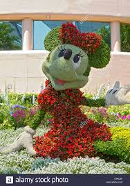 Garden Topiary Wire Forms Minnie Mouse Topiary At Epcot Disney World Florida Usa Stock