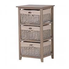 Elegant Grey Small Bathroom Storage Cabinet Wicker Basket 25 Best