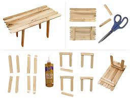 make a popsicle stick table art projects for kids