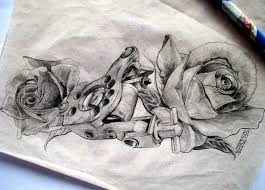 tattoo gun sketch tattoo machine with roses by arty147 on deviantart