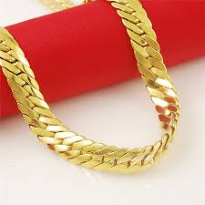 pattern gold necklace images 6mm pattern 2015 new wholesale 24k gold plated thick chunky choker jpg