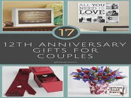 12th anniversary gift ideas 35 12th wedding anniversary gift ideas for him wedding