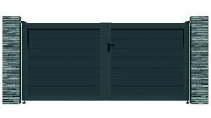 porte battant cuisine portail alu battant bolero anthracite 7016 vial menuiserie