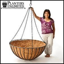 hanging planter basket 42in xl mega hanging flower basket