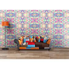 buy soothing pleasant colourful floral modern wallpaper india