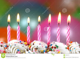 celebration with balloons candles and cake stock image image
