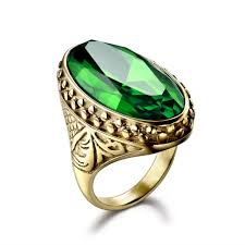gem rings images Original green gem rings floral design size 8 12 men 39 s jewellery jpg