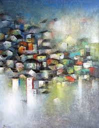 paint dream village of your and my dream by artist m singh impressionism