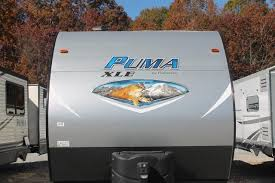 Puma Travel Trailers Floor Plans 2018 Palomino Puma 24fbc Travel Trailer Toy Hauler Queen Bed Open