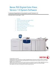 xerox 700 dcp customer expectations document paper ac power