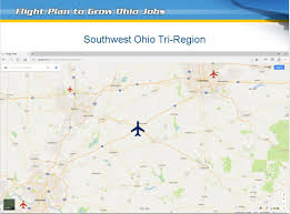 Ohio Google Maps by Two Major Airport Hubs Proposed For Ohio Wrgt
