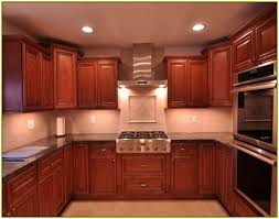 Kitchen Pictures Cherry Cabinets Wonderful Tile Backsplash Cherry Cabinets Dark Kitchen With Gold