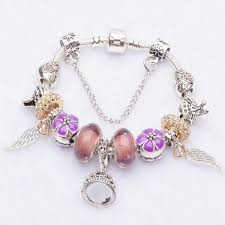 pandora bracelet charms silver images Silver charm bracelets for women with crystal pandora style jpg