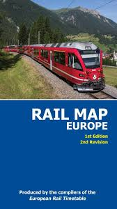 Europe Train Map by Printed Rail Map Of Europe
