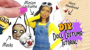 doll halloween costume tutorial diy masks minion u0026 headband