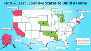 least expensive state to live in most and least expensive states to build a home gobankingrates