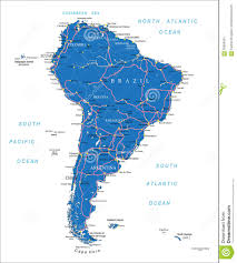 Road Map Of America by South America Road Map Stock Vector Image 56909491