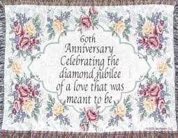 60th Wedding Anniversary Greetings Colorful Room Decorations