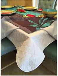 silence cloth table pad amazon com cut to fit vinyl table pad 70 round home kitchen