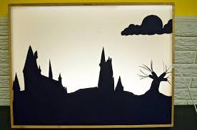 harry potter silhouette light box design idea